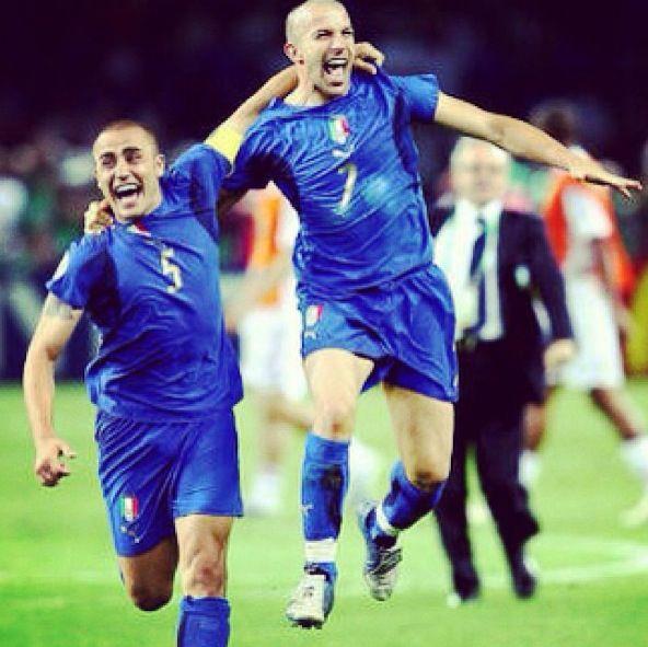Cannavaro and DelPiero  Italy national football team