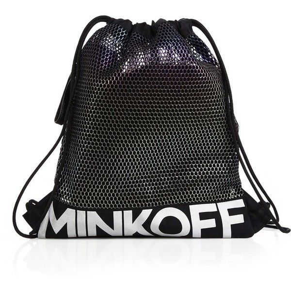 Rebecca Minkoff Mesh & Nylon Drawstring Backpack (1.028.875 IDR) ❤ liked on Polyvore featuring bags, backpacks, apparel & accessories, multi, backpack bags, strap backpack, day pack backpack, draw string backpack and nylon mesh bag