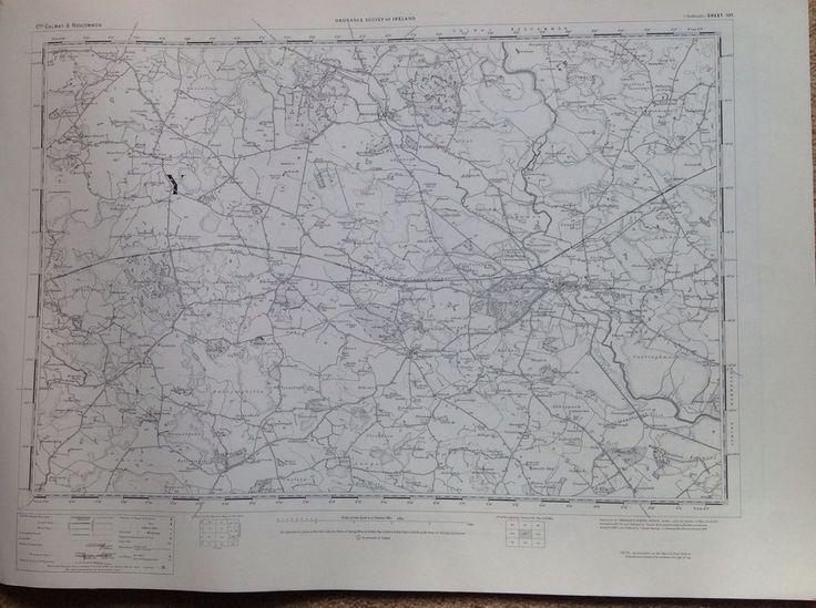 Ordnance Survey Map Ballinasloe Ireland One Inch Flat 1900 Version Cartography