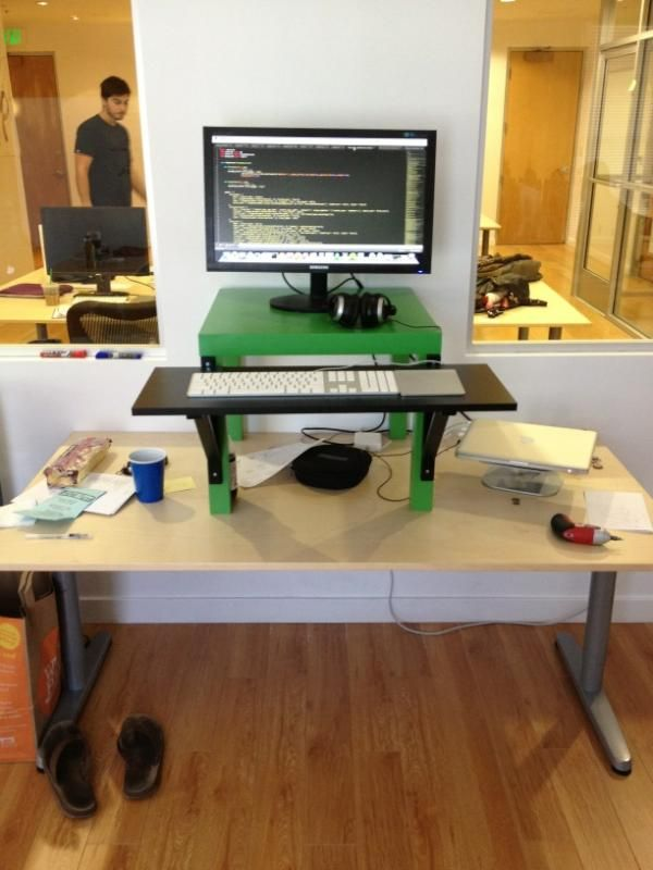 17 best images about standing desk diy on pinterest ikea for Stand up desk conversion ikea
