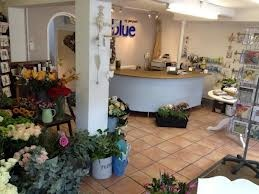 Store interior - flower counter and gorgeous fresh cut stems.