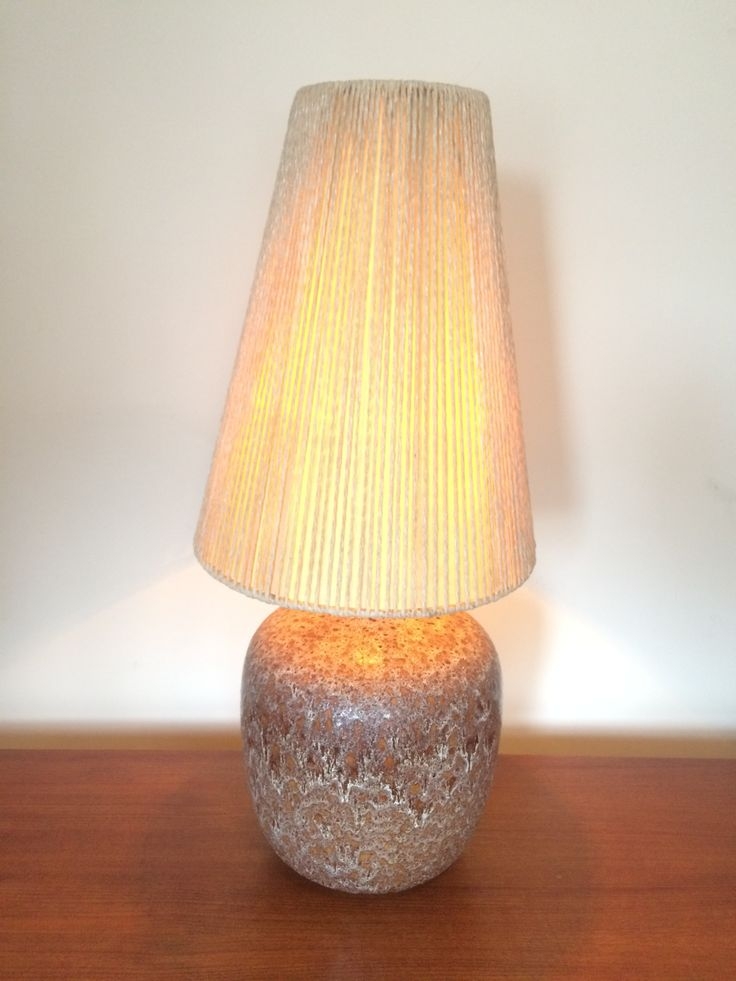 Maurice Chalvignac Lamp Base w Original Shade - liner in shade has some damage