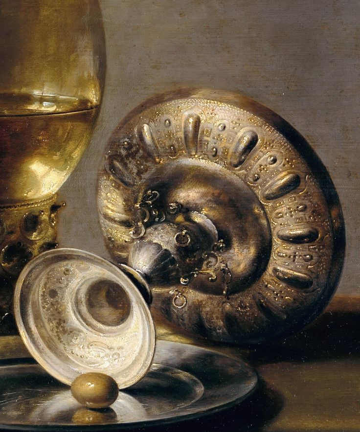 Pieter Claesz (c.1597-1661) - Still Life with glass and silver cup