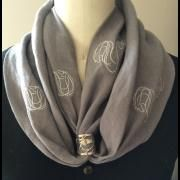 AN Infinity Scarf with AN Signature Scarf Ring in Sterling Silver