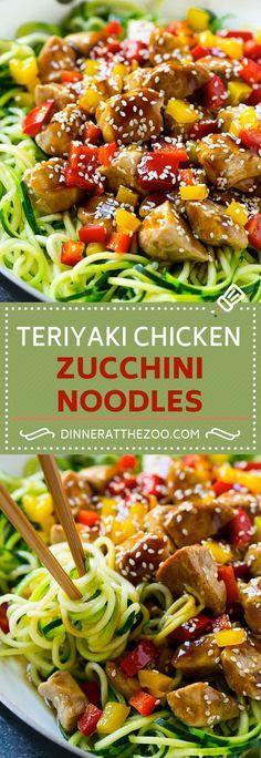 Teriyaki Chicken Zucchini Noodles | Zoodle Recipe | Teriyaki Chicken