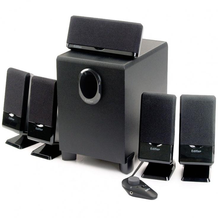 Edifier M1550: Home Theater 5.1Ch 26W RMS c/ Controle Remoto Com Fio e Proteção Magnética