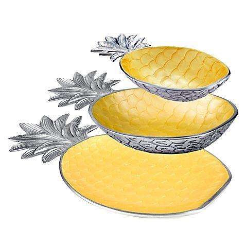 Exotic Tropics Pineapple Serveware Collection l Coastal Kitchen l www.DreamBuildersOBX.com