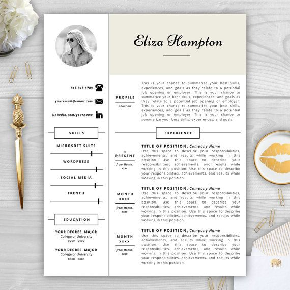 completely transform your resume with a photo resume template by resume template studio for 15 - Summarize Your Achievements