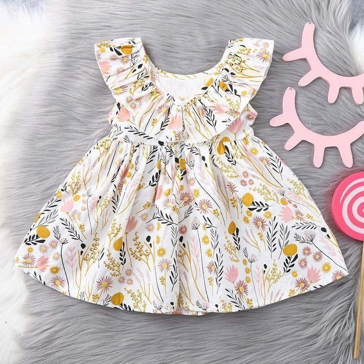 Toddler Baby Kids Girls Pleat Thick Lace Bow Ruched Princess Dress Warm Outfits