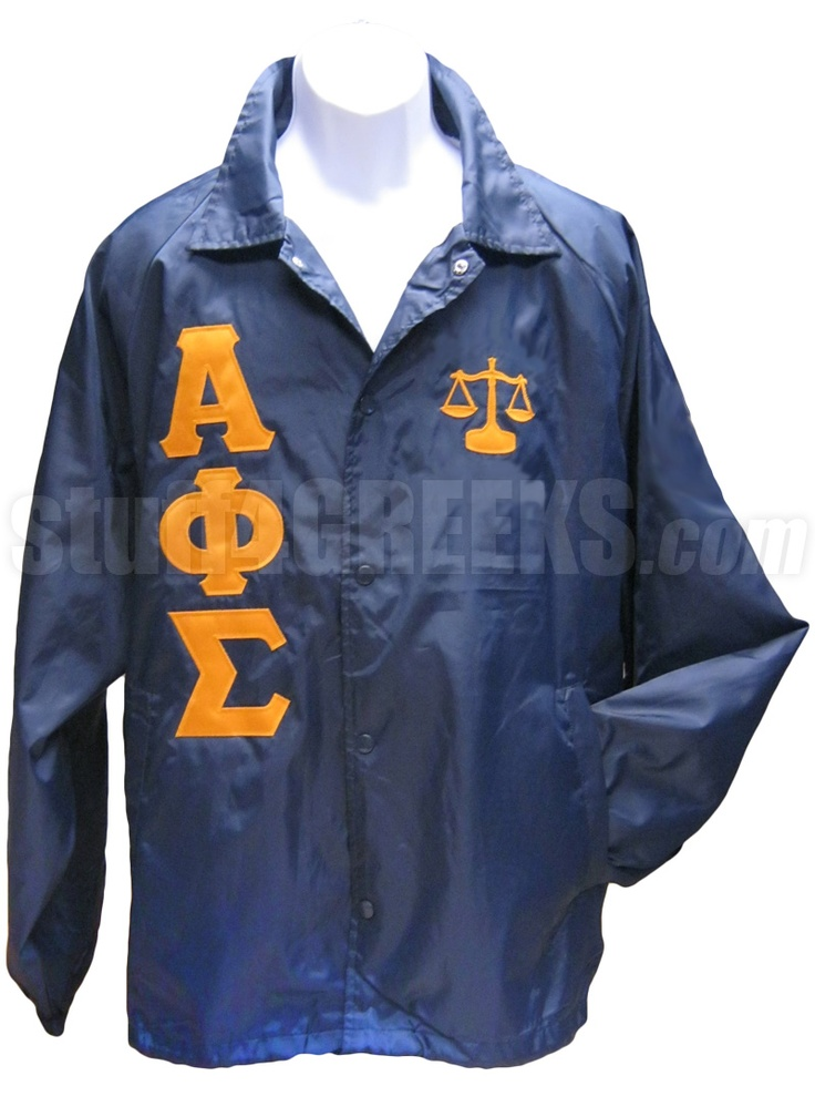 Alpha Phi Sigma Greek Letter Line Jacket With Justice