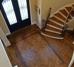 3 Inch White Oak Hardwood Flooring With Custom Stain