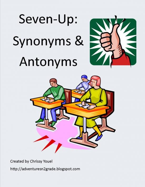 Seven Up With Synonyms & Antonyms product from Everyday-Adventures on TeachersNotebook.com