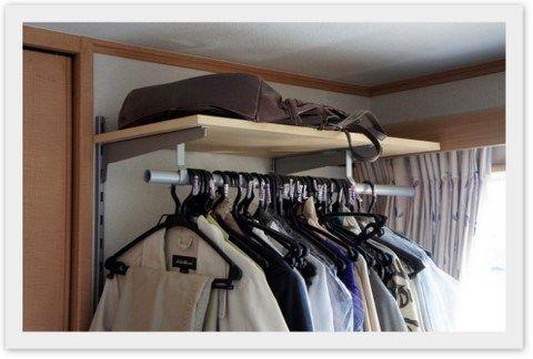 IKEA(イケア)製 狭いスペースでも衣類ハンガーと棚を組み立てる
