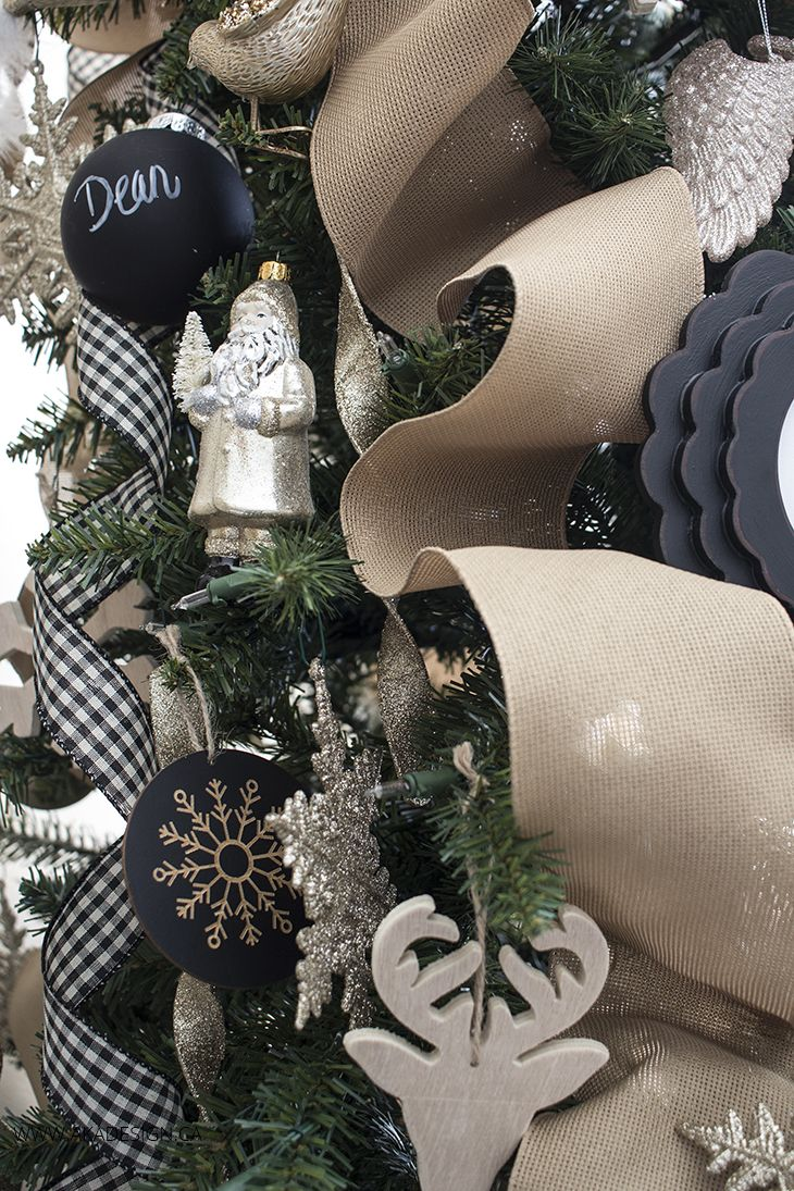 Neutral Christmas Tree Chalkboard Elements