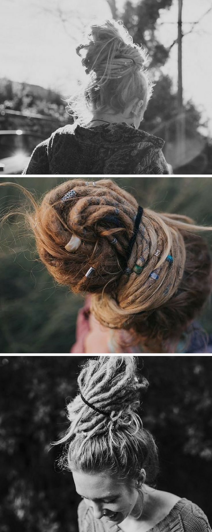 Dread bun Hairstyles  -  Dreadlock up do #dreadlockstyles #dreadlocks #dreads #Dreadbun #dreadbeads #dreadlockupdo mountaindreads.com