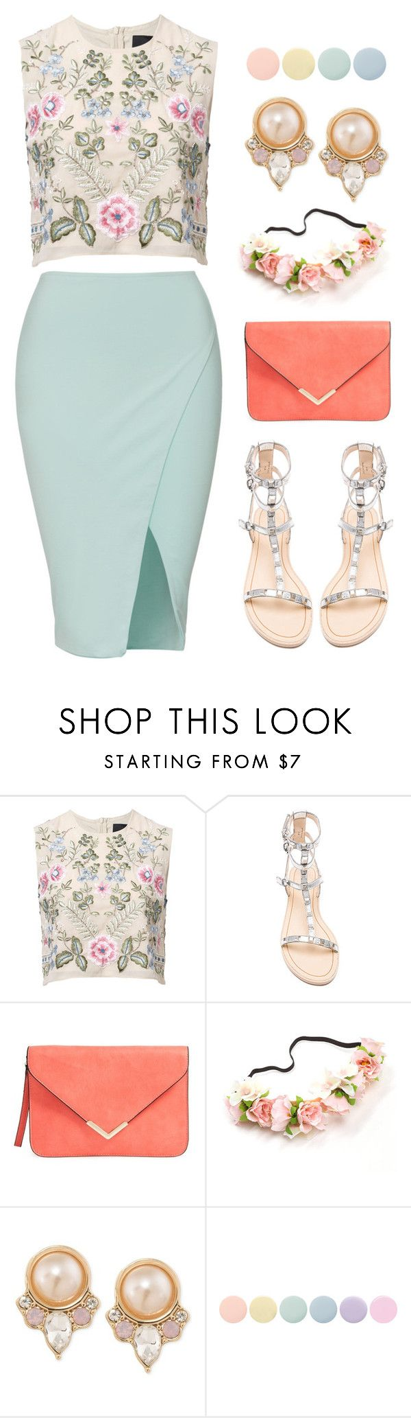 """""""Candy crush."""" by orpitaazmiri ❤ liked on Polyvore featuring Needle & Thread, Rebecca Minkoff, Carolee and Deborah Lippmann"""