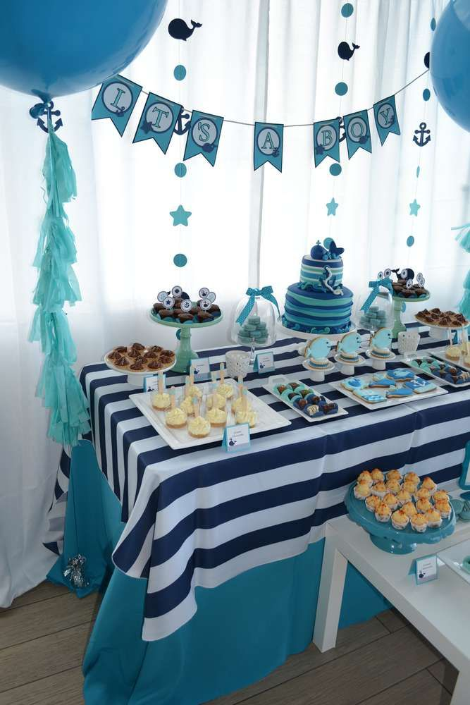 Whales Baby Shower Party Ideas | Photo 2 of 27 | Catch My Party