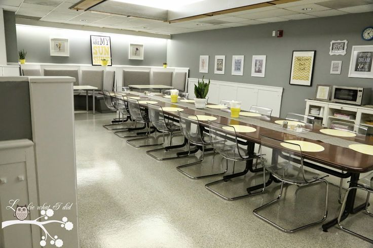 Teacher Lounge Makeover- I would have died to have a space like this between teaching my classes!