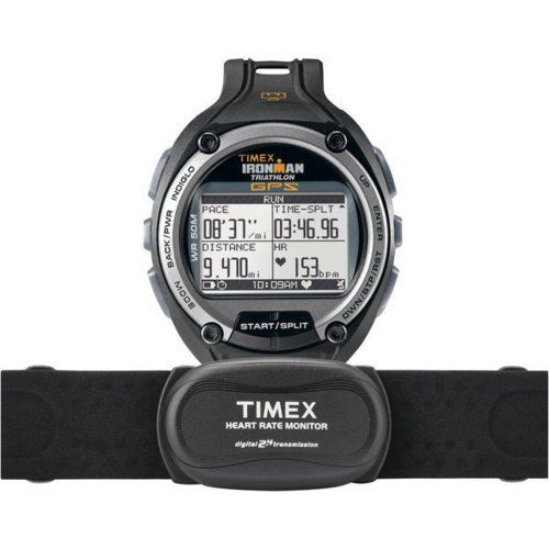 Get pace, speed, distance, and more on your wrist. With SiRFstarIII GPS technology and ANT+ compatibility, this Ironman Global Trainer GPS watch from Timex records your performance across several dimensions–including pace, speed, distance, and more–providing real-time data on a...