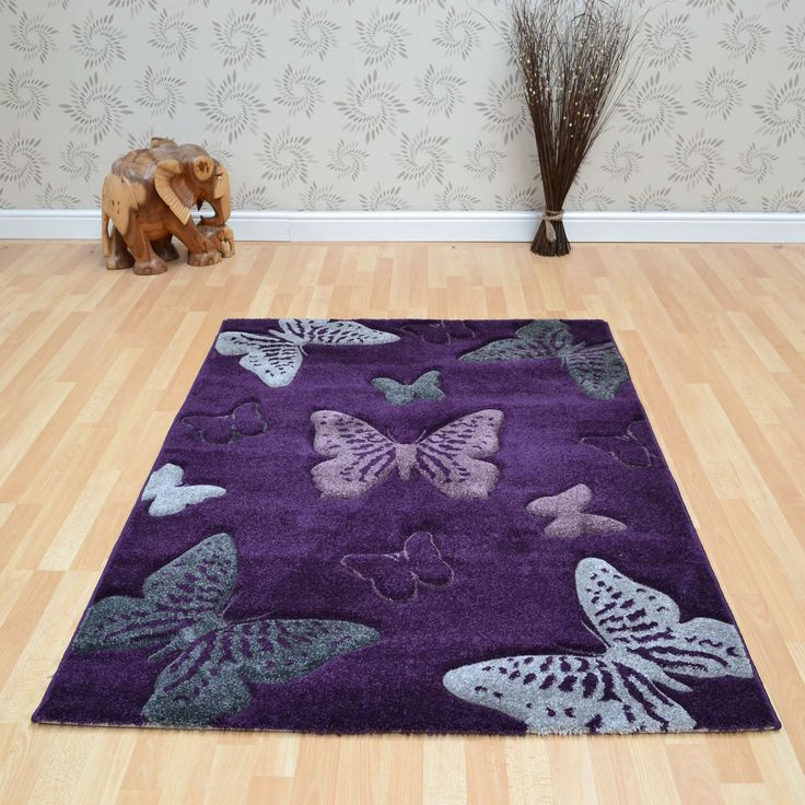 Esprit Erfly Rugs In Aubergine Online From The Rug Er Uk