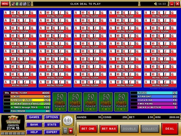 50 play bonus poker - 50 royal Flush!  You can find hundreds of Big Win pictures and more videos here: http://www.bigwinpictures.com