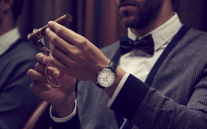 Download wallpapers businessmen, time concepts, business concepts, swiss watch, Vacheron Constantin