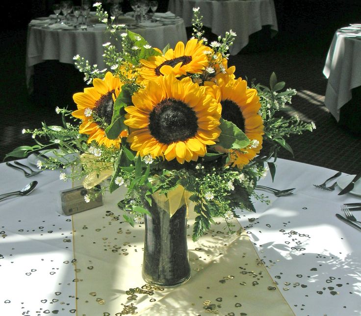 Bright And Beautiful Sunflower Arrangement Yellow