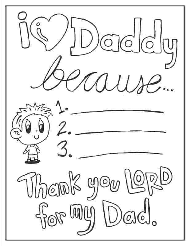 Father's Day Coloring Pages (100% Free) Easy Print PDF in