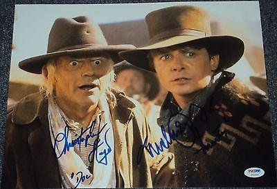 Back To The Future Michael J Fox Christopher Lloyd Signed Photo Psa/D @ niftywarehouse.com #NiftyWarehouse #BackToTheFuture #Movie #Film #Movies #Gifts