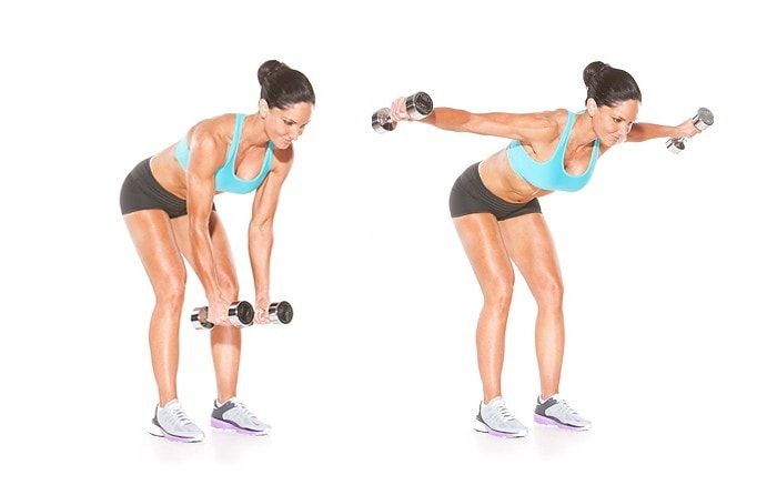 Get Rid Of Back Fat And Bra Bulge - Bent Over Rear Delt Raise