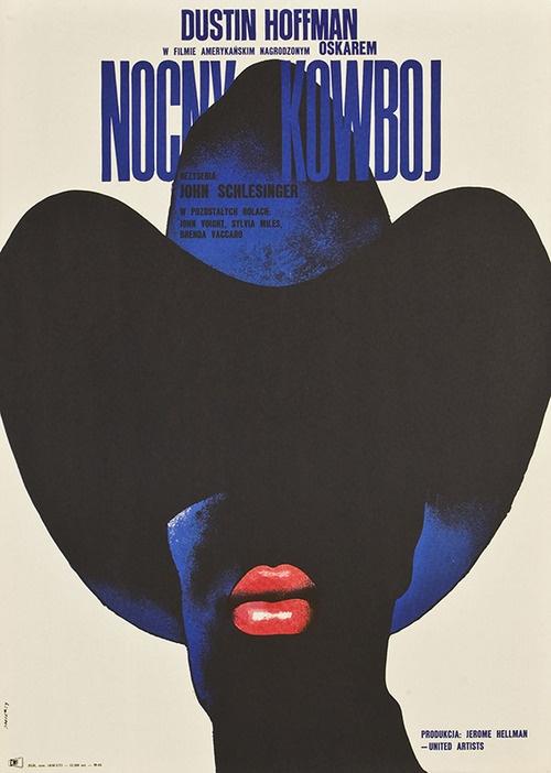 1973 Polish poster for MIDNIGHT COWBOY (John Schlesinger, USA, 1969) Artist: Waldemar Swierzy (b. 1931) Poster source: Posteritati