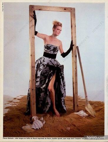Pierre Balmain 1983 Angus Mc Bean, Strapless Dress