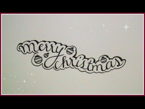 how to write merry christmas in cursive fancy letters (version 4)