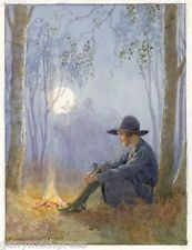 Margaret Tarrant - Logs in Fire  - GIRL GUIDE PRINT