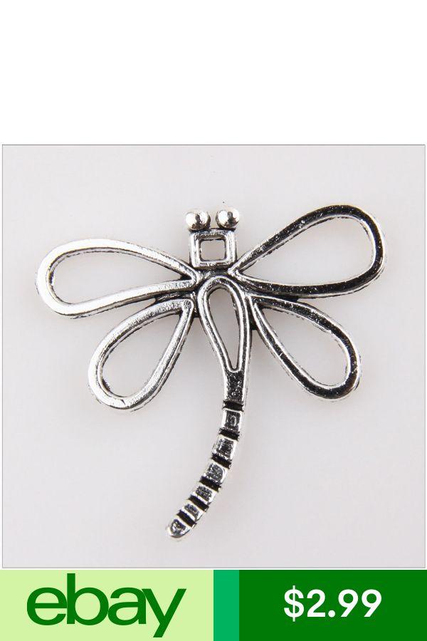 30Pcs Dragonfly Tibetan Silver Charms Pendants Jewelry Making Findings EIF0076