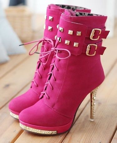 Hot Pink Boots - not crazy about the color but cute shoe!