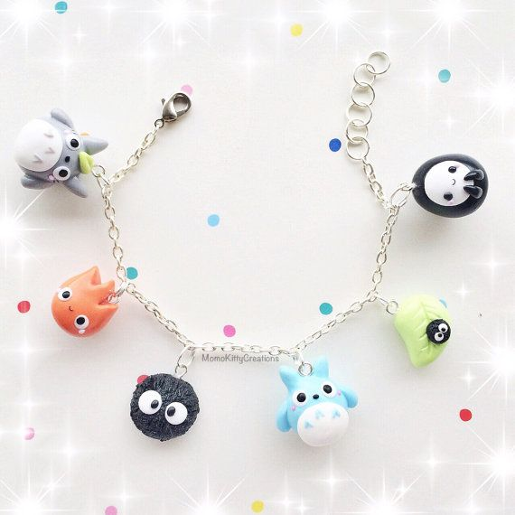 Studio Ghibli Kawaii polymer clay Charm by MomoKittyCreations