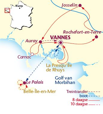 Uw fietsvakantie door de Bretagne in Frankrijk boekt u hier