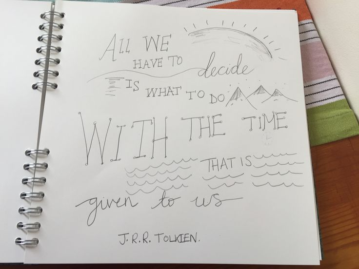 Doodle motivational quotes throughout. There are plenty out there!!