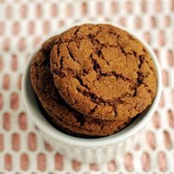 Big Soft Ginger Cookies | These are just what they say: big, soft, gingerbread cookies. They stay soft, too. My older brother's favorite.