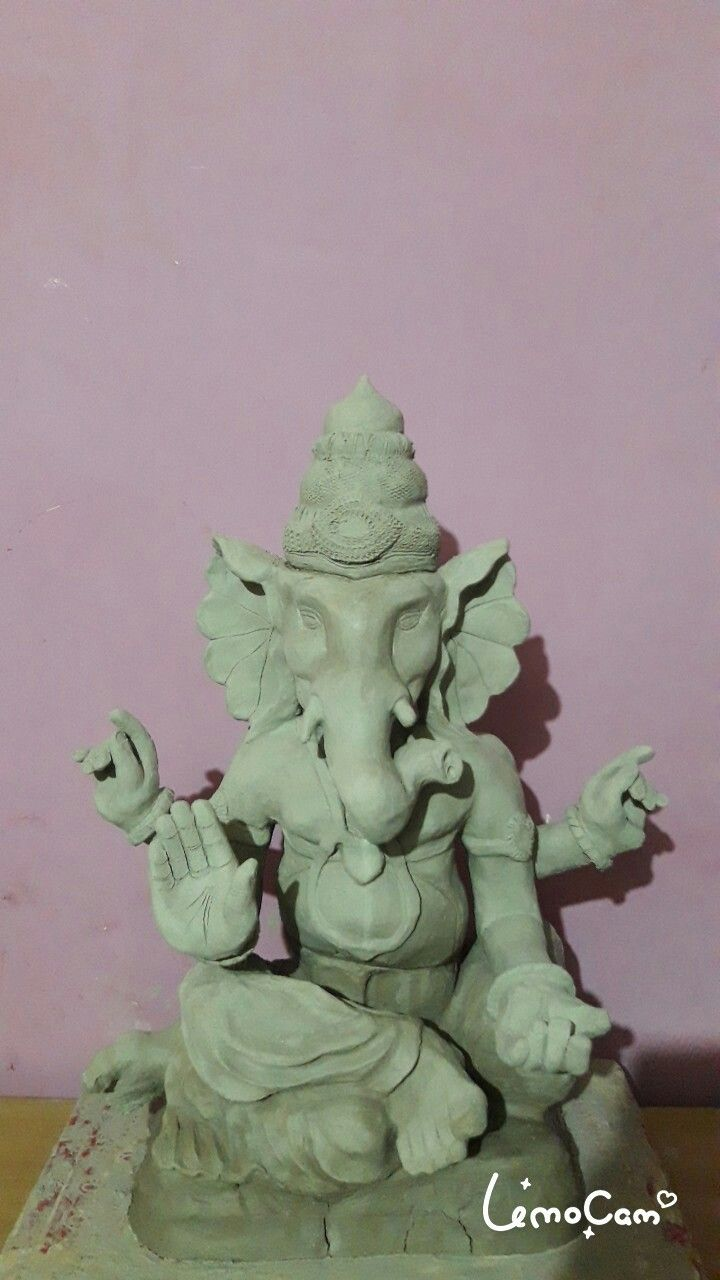 Shadu Clay Ecofriendly Ganpati Bappa Idol made by Murtikaar