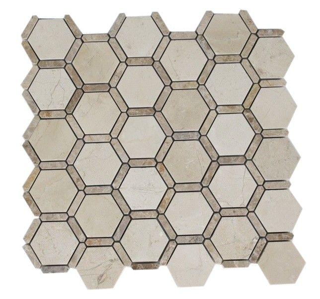 This beautiful honeycomb pattern is ideal for a kitchen backsplash. See more kitchen backsplash design ideas at http://www.glasstilestore.com