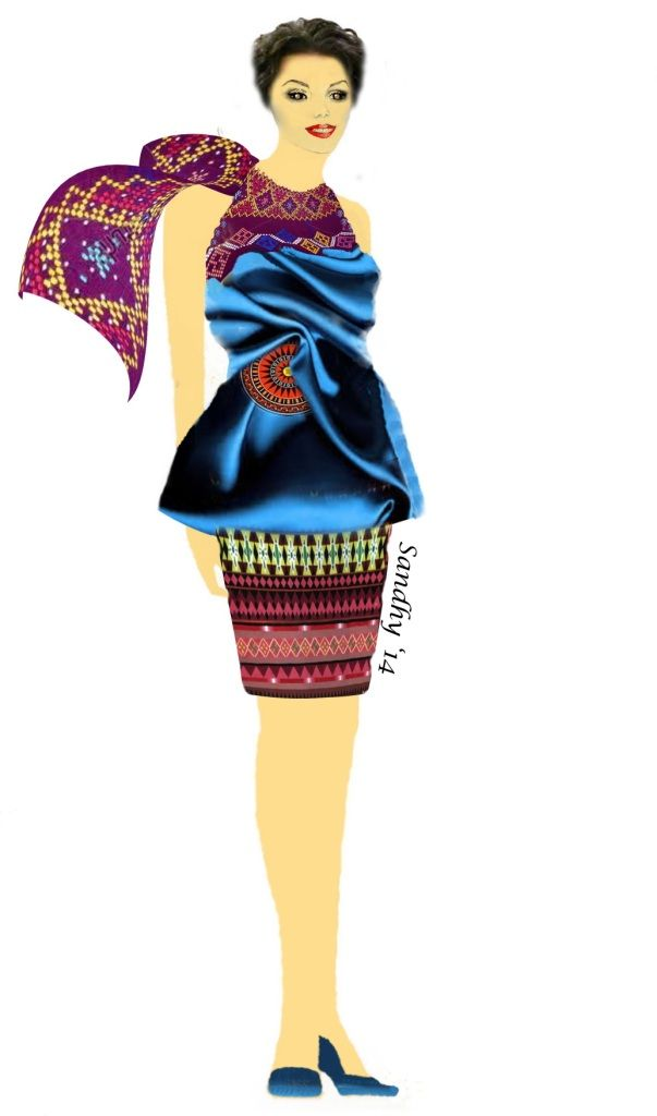 """my fashion design inspired from """"Toraja"""" South Sulawesi Indonesia"""
