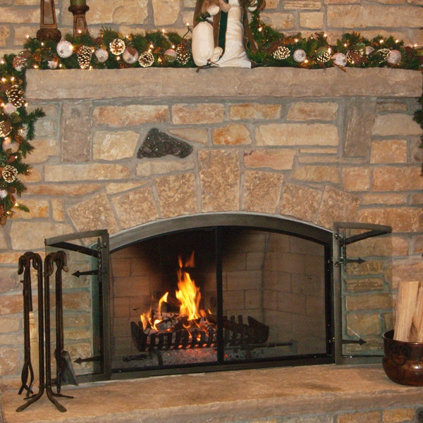 how to clean glass fireplace doors on gas fireplace