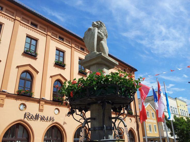 Cute Lion fountain in Pfarrkirchen Rottal Inn