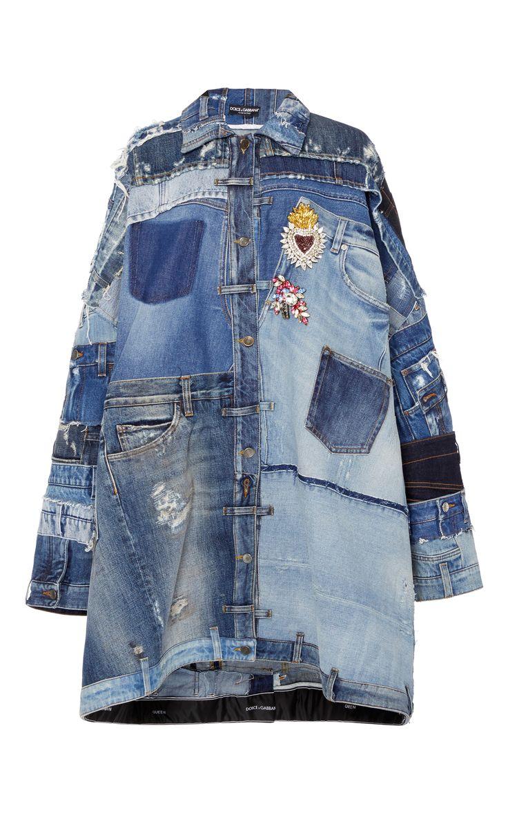 Patchwork Denim Jacket by DOLCE & GABBANA for Preorder on Moda Operandi