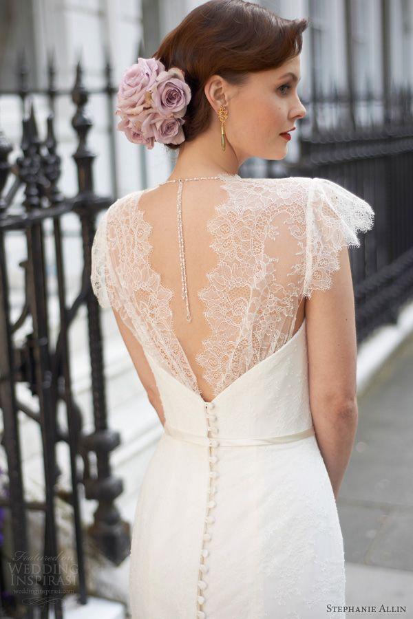 stephanie allin wedding dresses 2014 freya scallop lace cap sleeve sheath gown