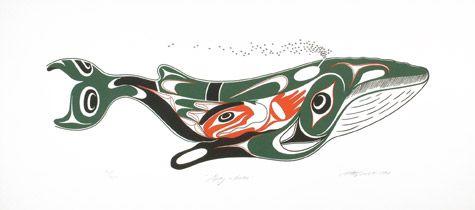 Grey Whale Art Thompson Northwest Coast (Nuu chah nulth)