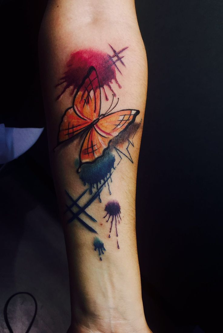 Watercolor tattoo artists in houston texas - Butterfly Watercolor Tattoo Artist Alessandro Joy Raggi Ink Addicted Savona Italy