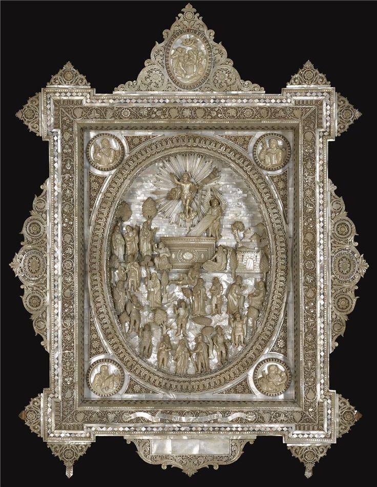 Иконы из перламутра, XIX в. - Орнамент и стиль в ДПИ